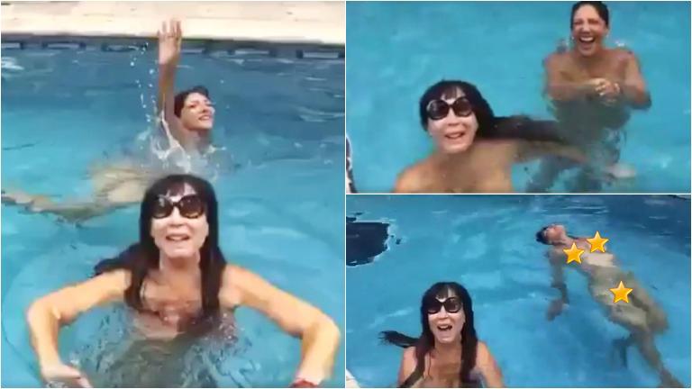 Moria Casán se desnudó para terminar 2015