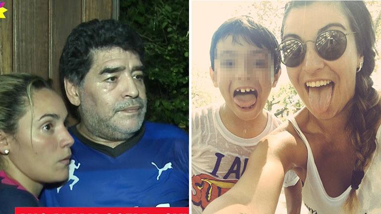 Maradona, a corazón abierto sobre la distancia con su nieto, Bejamín Agüero: