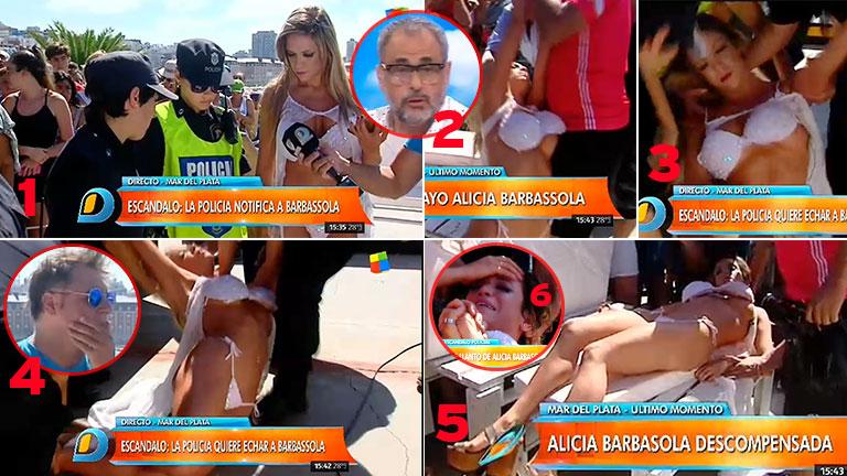 El desmayo de Alicia Barbassola, en pleno móvil en vivo con Intrusos