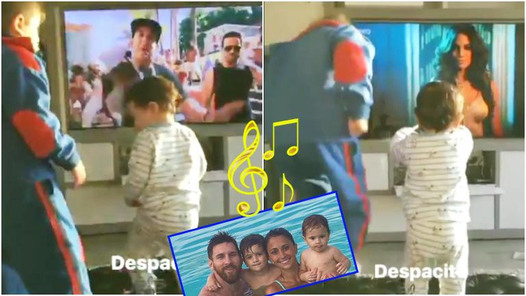 El tierno baile de los hijos de Leo Messi