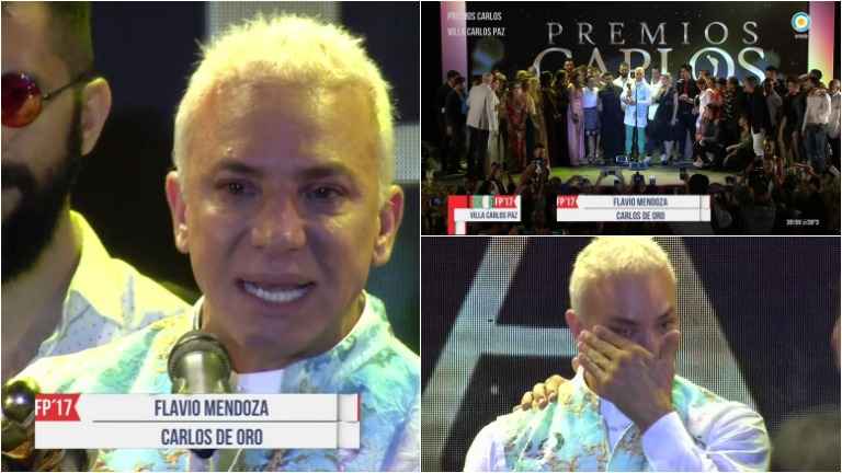 La emoción de Flavio Mendoza al ganar el Oro en los Premios Carlos 2017: