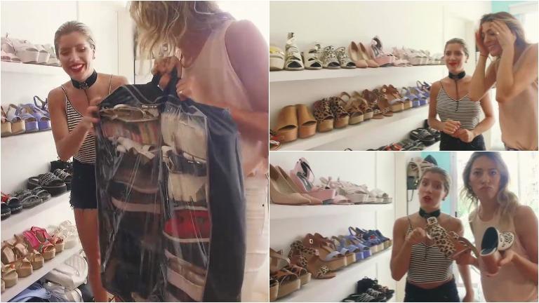 Laurita Fernández le mostró a Naty Franzoni en #CambiáTuDía su colección de zapatos: