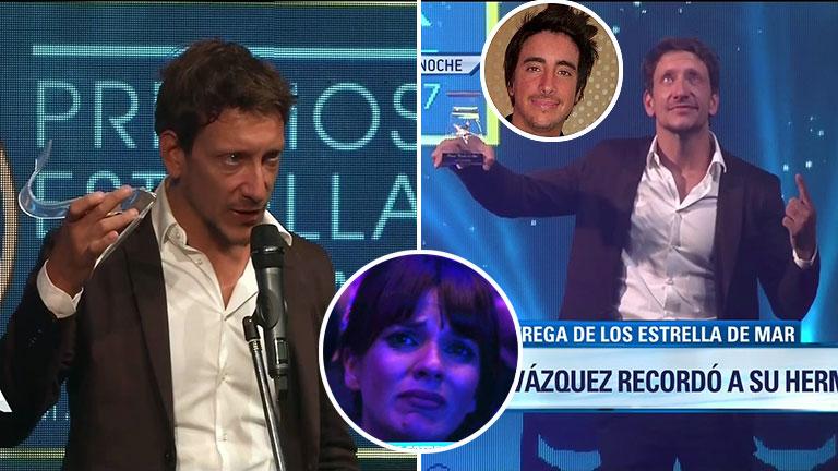 El conmovedor agradecimiento de Nico Vázquez a su familia cuando recibió el Estrella de Mar a mejor actor