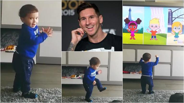 El tierno video de Mateo, el hijo de Lionel Messi, bailando