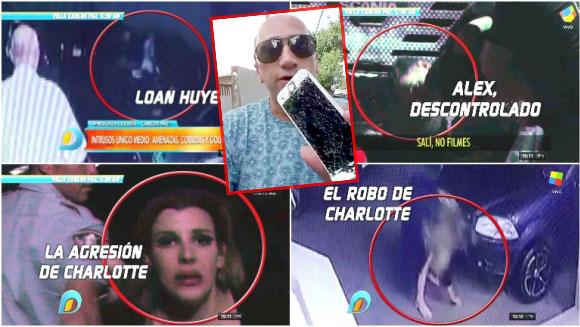 Las imágenes de la violenta noche de Charlotte Caniggia, su hermano y Loan en un boliche de Carlos Paz... ¡y el cruce de la actriz con Pablo Layús!