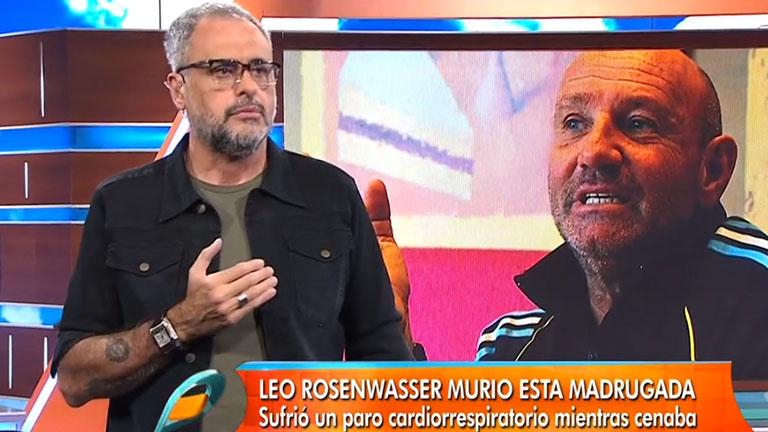 Jorge Rial y un fuerte mensaje tras la muerte de Leo Rosenwasser