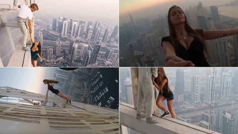 Mirá el impresionante video de una modelo rusa en un shooting en el piso 73 de Dubai sin red: tuvo más de un millón de reproducciones