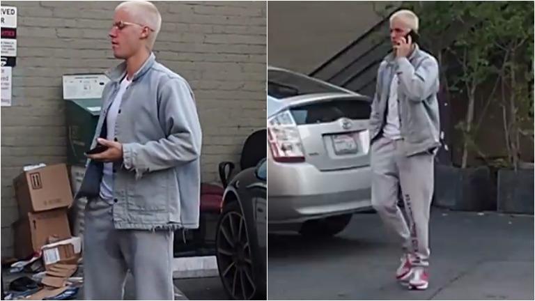 Los paparazzi agarraron a Justin Bieber con una mancha de pis en los pantalones
