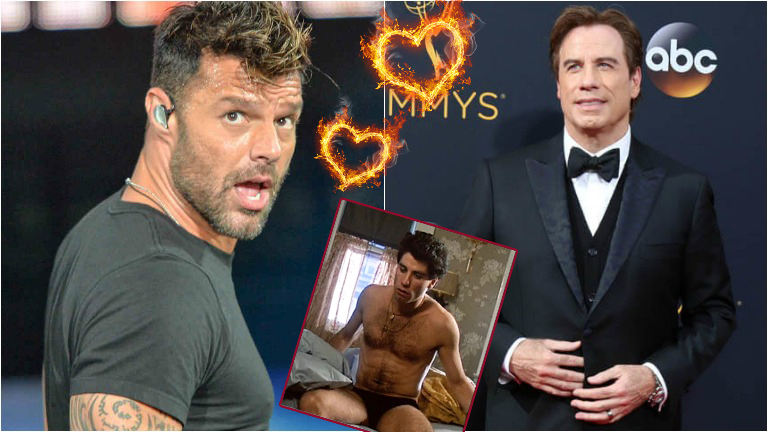 Ricky Martin contó que John Travolta fue el primer hombre que lo flechó