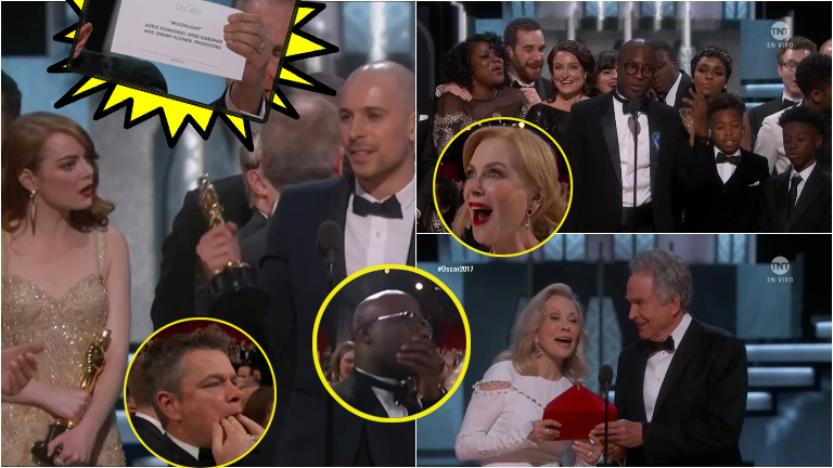 Papelón en los Oscar: se anunció ganadora como Mejor película a La la land y había ganado Moonlight