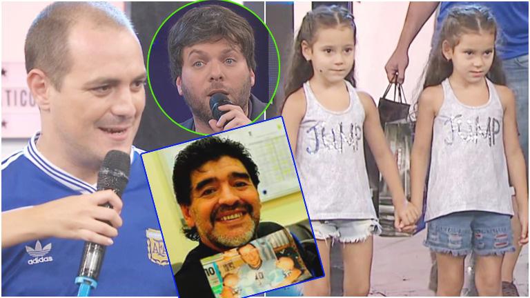 El participante, fanático Nº 1 de Diego: ¡les puso Mara y Dona a sus hijas!