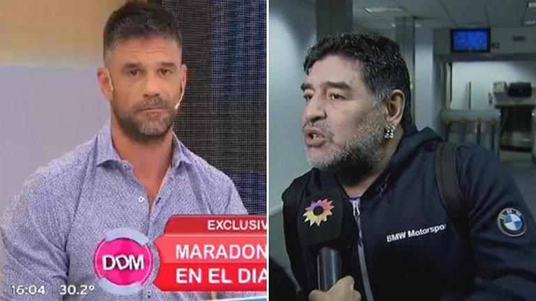 """Maradona llamó furioso en vivo para desmentir su separación y apuntó contra un panelista: """"¡Sos un boludo y un idiota!"""""""