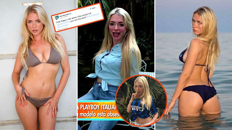 La exuberante conejita de Playboy que quiere seducir a Icardi