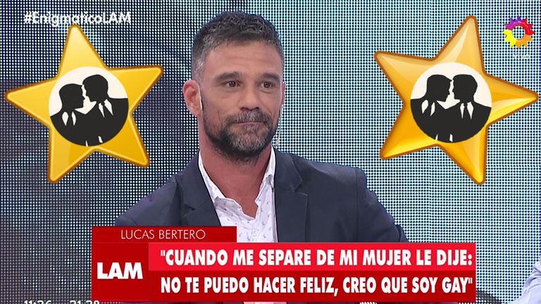"""La explosiva confesión de Lucas Bertero: """"Salí con hombres muy famosos, algunos son casados"""""""