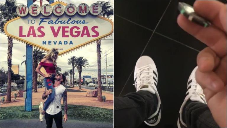 Fede Bal y Laurita Fernández, juntos y enamorados en Las Vegas