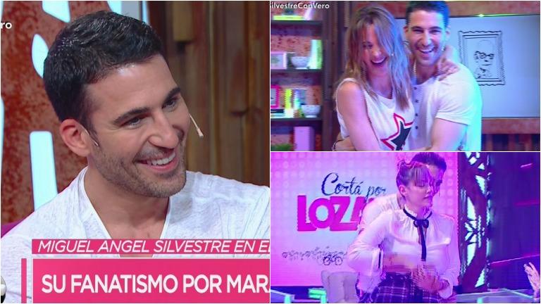 Miguel Ángel Silvestre, el galán de Velvet, bailó con Vero y Connie Ansaldi en Cortá por Lozano