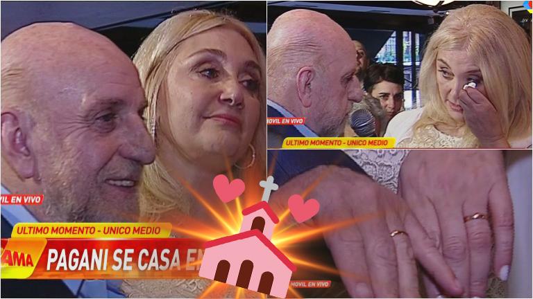 Horacio Pagani y Cecilia Di Carlo se casaron en vivo en Infama