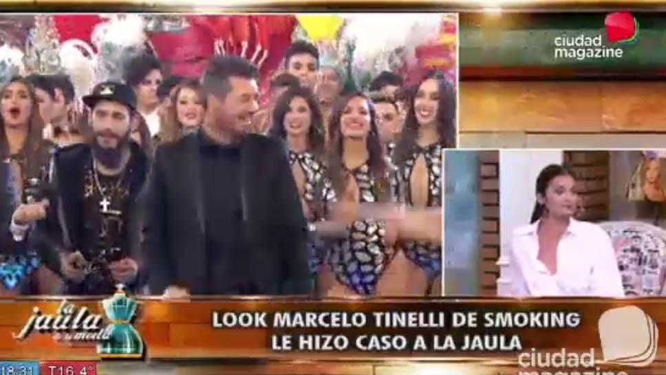 Look Marcelo Tinelli de smoking en la apertura de Showmatch