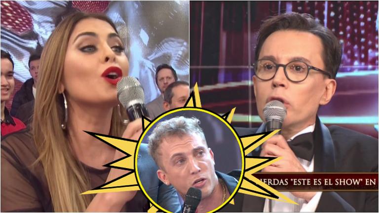 El cruce de Silvina Luna con Marcelo Polino en Bailando 2017