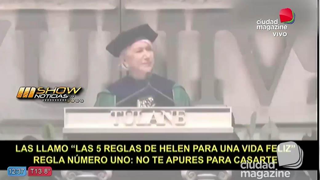 Hellen Mirren brindó un discurso para reflexionar