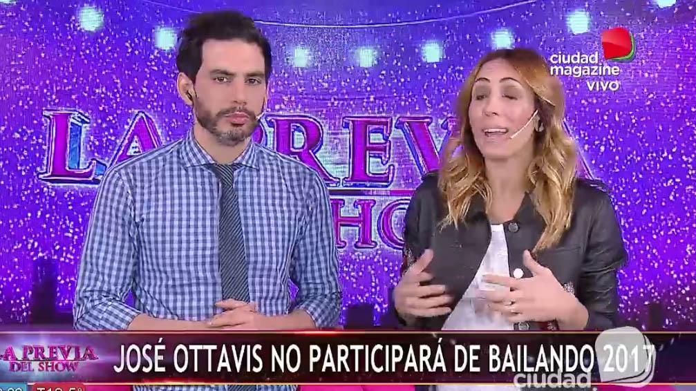 José Ottavis no participará en Bailando
