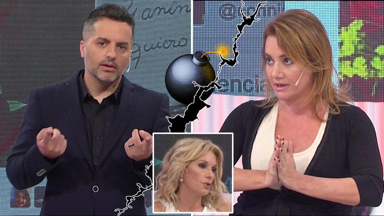El inesperado cruce en vivo entre Ángel de Brito y Nancy Pazos