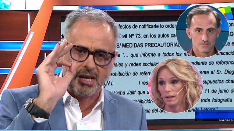 Jorge Rial, tras la medida cautelar de Diego y Yanina Latorre tras el escándalo con Natacha Jaitt