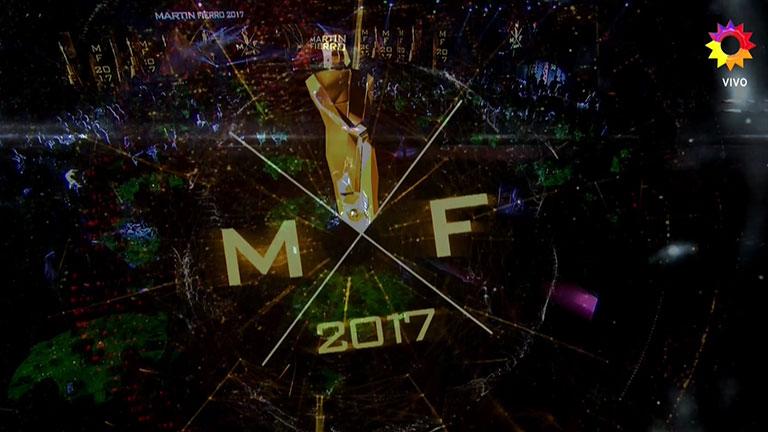 El comienzo de los premios Martín Fierro 2017