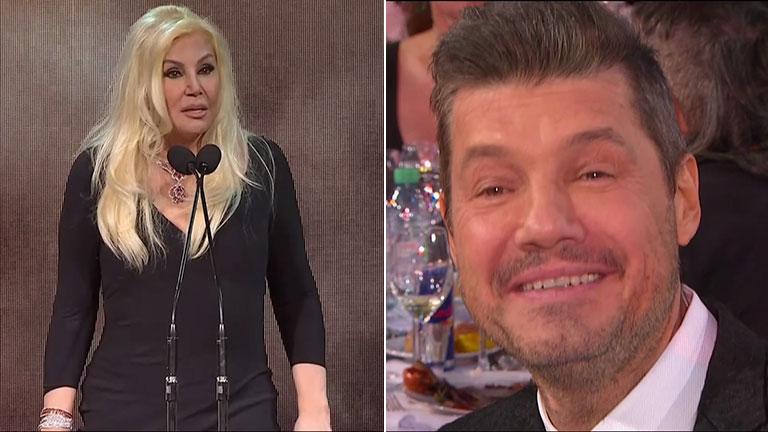 """El divertido reto de Susana Giménez a Tinelli al recibir el Martín Fierro por sus 30 años en TV: """"¡Ay, Marcelo, llegaste tarde!"""""""