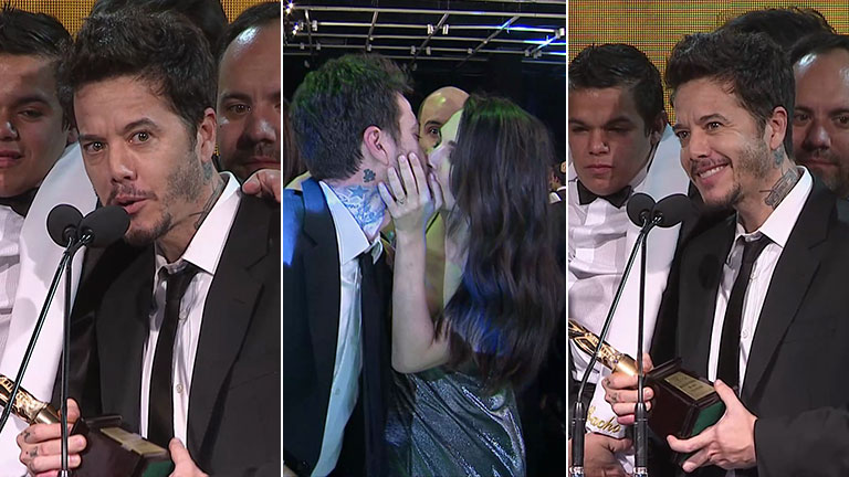 Y el Martín Fierro de Oro 2017 es para… ¡El Marginal!: la emotiva dedicatoria de Sebastián Ortega a su novia