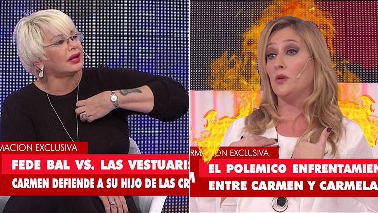 """La grave acusación de Carmela Bárbaro a Carmen Barbieri: """"Vos llamaste a las autoridades del canal y pediste mi cabeza"""""""
