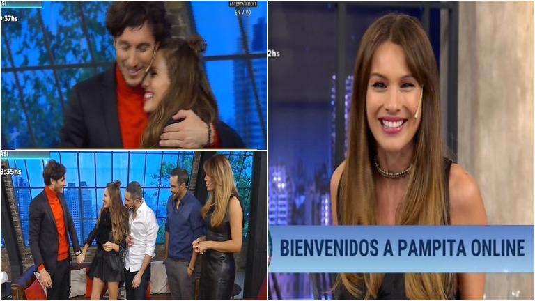Pico Mónaco debutó en TV y Pampita lo sorprendió:
