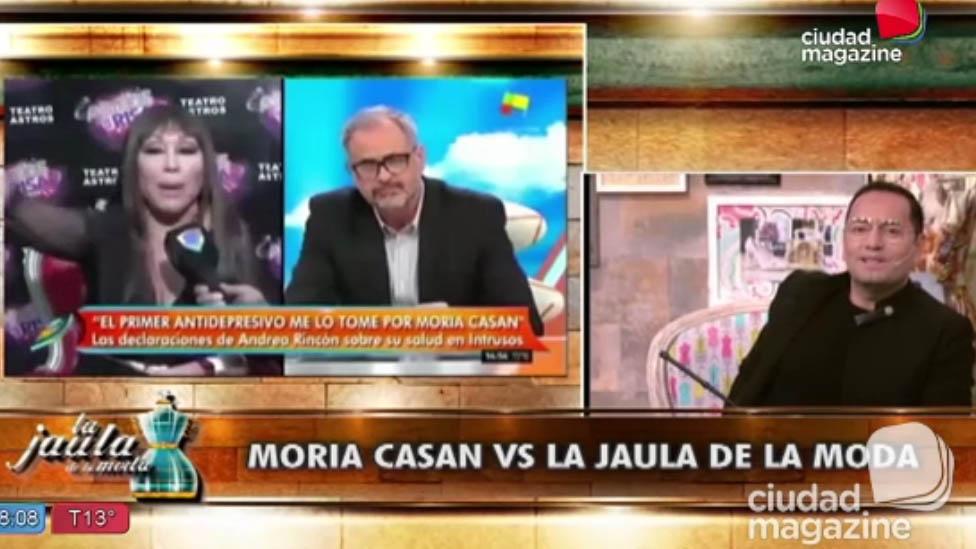 Moria Casán enojada con La Jaula de la moda