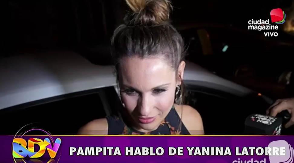 Pampita habló de Yanina Latorre