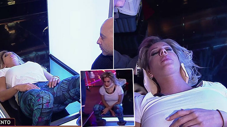 En pleno ensayo, Noelia Marzol sufrió una lesión y recibió atención médica