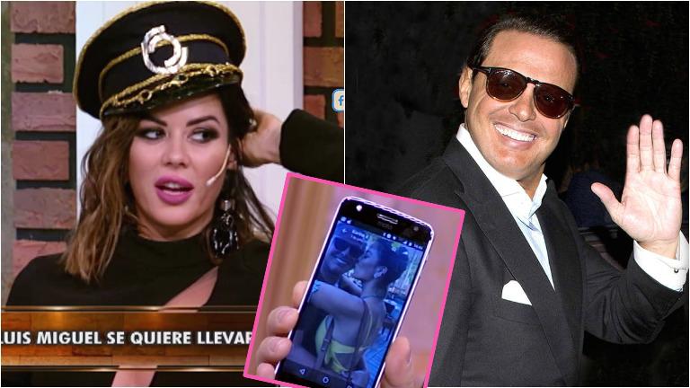 La reacción de Karina Jelinek cuando mostraron en La jaula de la moda los mensajes que le manda Luis Miguel
