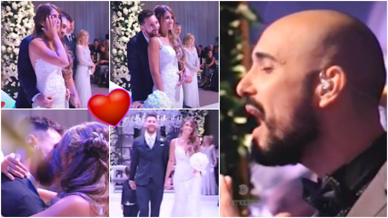 El emotivo momento del casamiento de Leo Messi y Antonela Roccuzzo