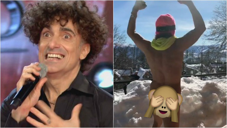 Favio Posca se desnudó en la nieve: