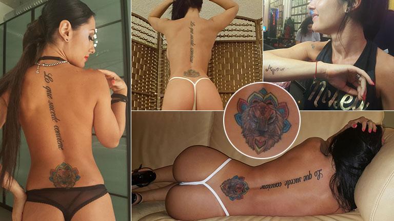 El video hot de Jésica Hereñú, luciendo sus nuevos tatuajes