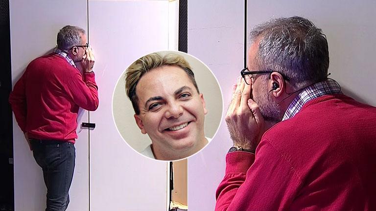 La polémica chicana de Jorge Rial a Cristian Castro... ¡hablándole a un armario!