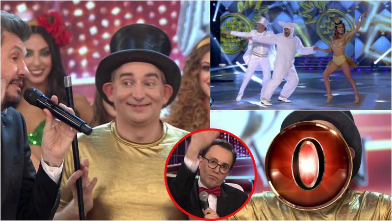 El Mago sin Dientes bailó la salsa de a tres en ShowMatch y terminó con un cero de Marcelo Polino