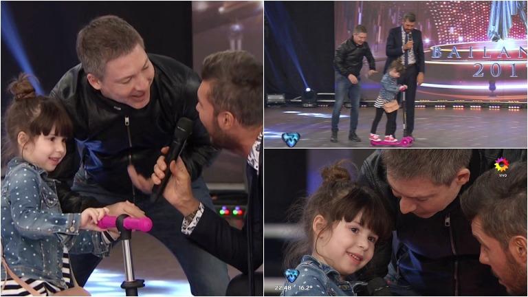 Adrián Suar visitó ShowMatch con Margarita, su hija