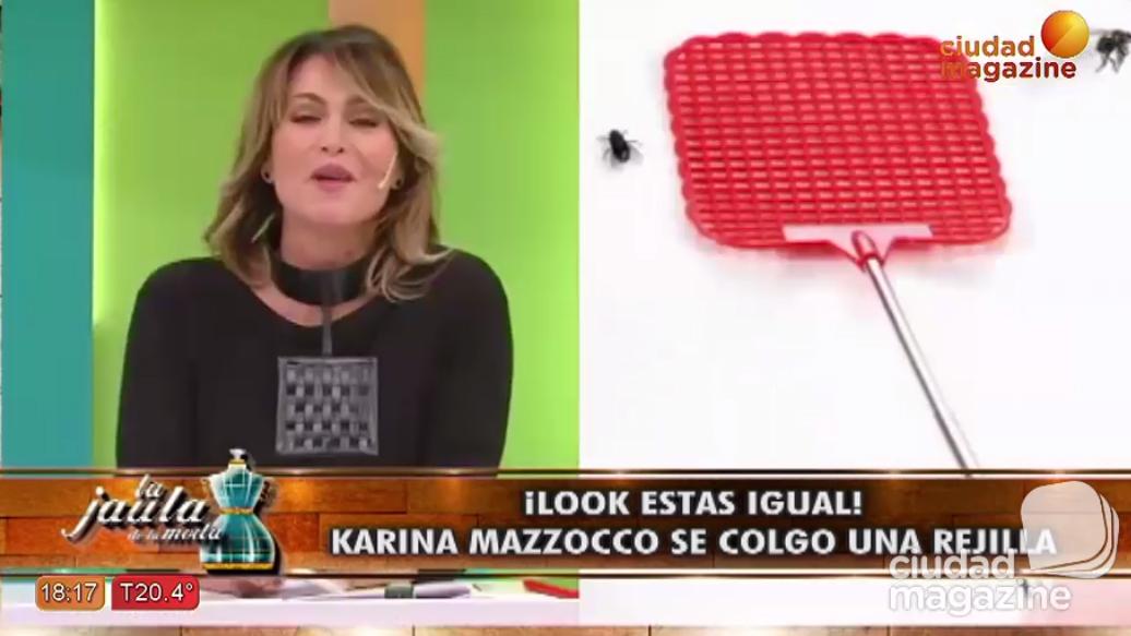 Karina Mazzocco se colgó una rejilla