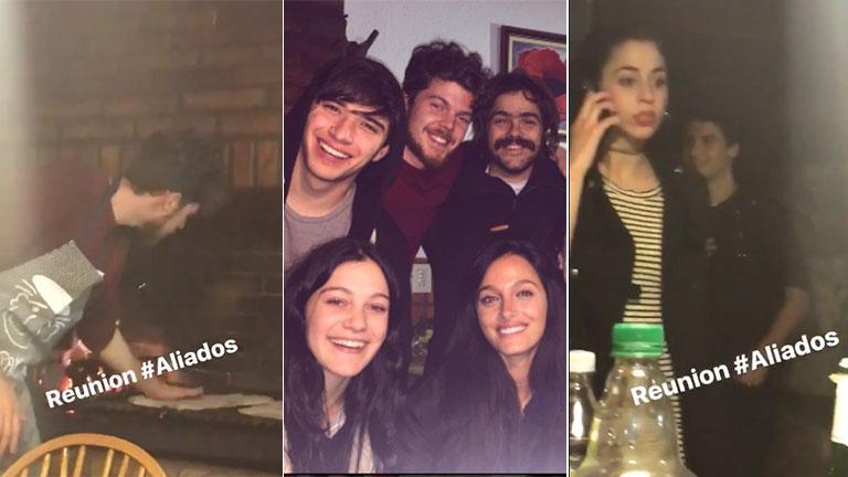 El reencuentro de Oriana Sabatini y Julián Serrano en una cena con los Aliados