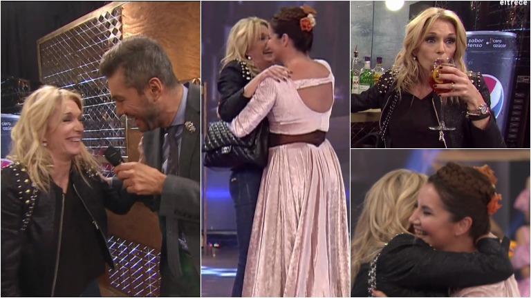 Yanina Latorre tomó de más en ShowMatch y terminó abrazada a Nancy Pazos