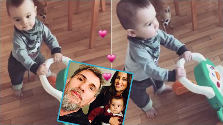 El tierno video de Lourdes Sánchez mostrando los primeros pasos de su hijo, Valentín