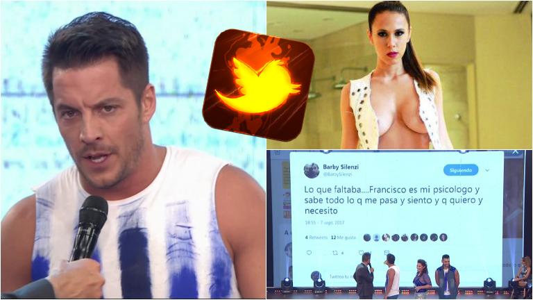 La picante pelea de Francisco Delgado en ShowMatch y Barby Silenzi desde Twitter