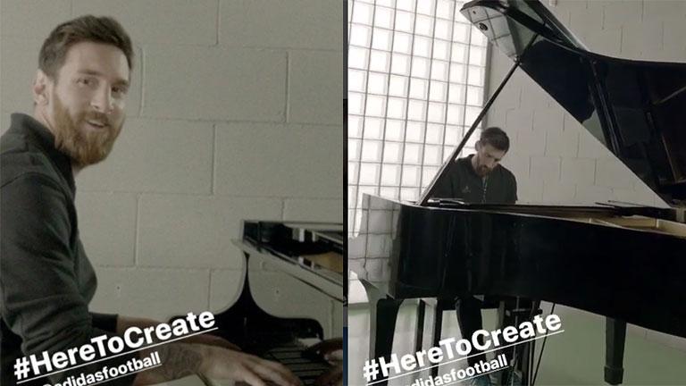 El video viral de Lionel Messi tocando en el piano el himno de la Champions League