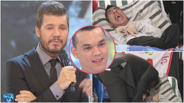 La emoción de Marcelo Tinelli con Carlitos, el hermano de Brian Lanzelotta