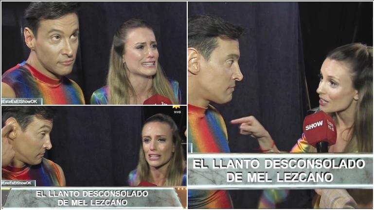 El cruce de Melina Lezcano con su bailarín que terminó en una crisis de llanto